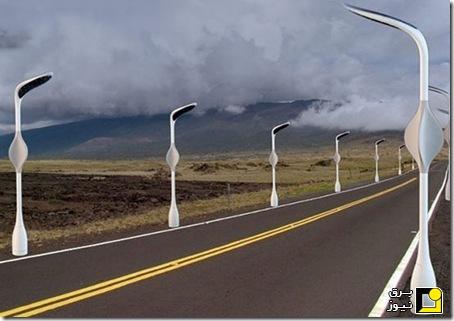 پایههای روشنایی ترکیبی خورشیدی و بادی+ تصاویر