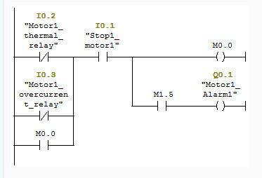 برنامه راه اندازی موتور الکتریکی با استفاده از دستور Set و Reset در محیط LADDER