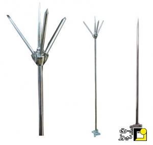 انواع پایه و دکل جهت نصب صاعقه گیر